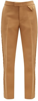 Bottega Veneta Tailored Canvas Straight-leg Trousers - Womens - Camel