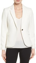 Vince Camuto Grid Texture One-Button Blazer