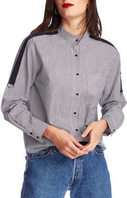 Court & Rowe Pinstripe Button Front Shirt