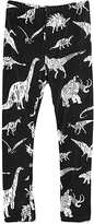 Urban Smalls Black & White Dinosaurs Toasties Leggings - Infant Toddler & Girls
