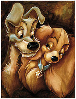 Disney ''Lady and the Tramp'' Giclée by Darren Wilson
