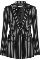 Givenchy Blazer In Black And White Striped Wool-jacquard - FR34