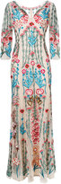 Temperley London Woodland V-neck dress - women - Silk/Nylon/Spandex/Elastane - 8
