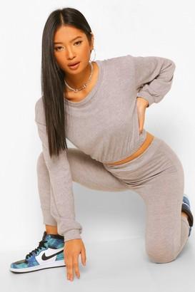 boohoo Petite Knitted Elasticated Sweatshirt