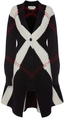 Alexander McQueen Intarsia Knit Cardigan