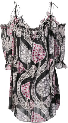 Isabel Marant Off-Shoulder Floral Dress