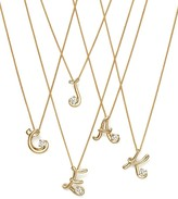 Bloomingdale's Diamond Initial Pendant Necklace in 18K Yellow Gold, 18""