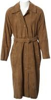 BOSS Khaki Suede Coat for Women