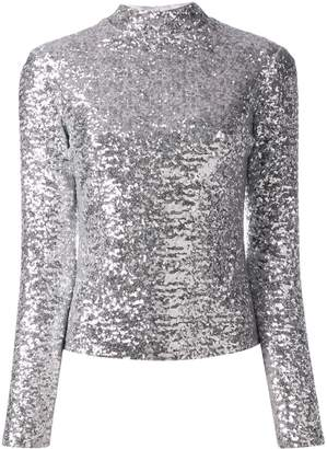 In The Mood For Love roll neck sequin top