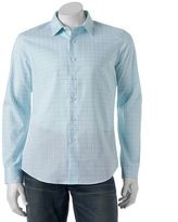 Apt. 9 Men's Slim-Fit Plaid Stretch Button-Down Shirt
