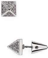 Eddie Borgo Pave Pyramid Stud Earrings