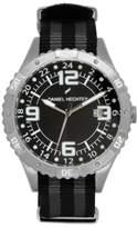 Daniel Hechter DHH - 002/AA Men's Watch Analogue Quartz Black Dial Black Nylon Strap