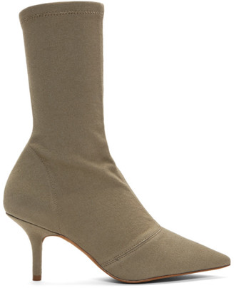 Yeezy Beige Canvas Ankle Boots