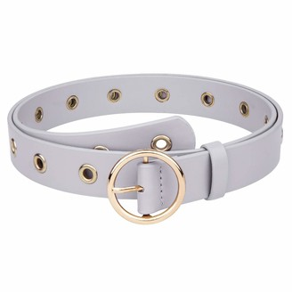 "KYEYGWO Women Leather Belt for Jeans Pants Ladies Waist belt for Dresses with Pin Buckle Fits 27.5"" to 39.4"""