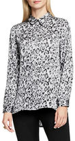 Vince Camuto Leopard Flurry Long Sleeve Button-Front Blouse