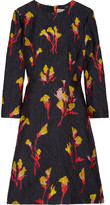 Jason Wu Floral-printed jacquard mini dress