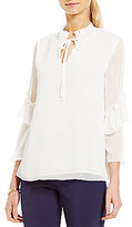Gibson & Latimer Tiered Ruffle Sleeve Blouse