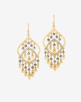 White House Black Market Beaded Chandelier Earrings