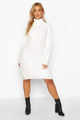 boohoo Plus Super Soft Knitted Mini Jumper Dress