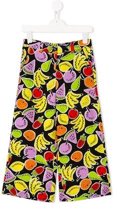 Stella McCartney Fruits print wide-legged trousers