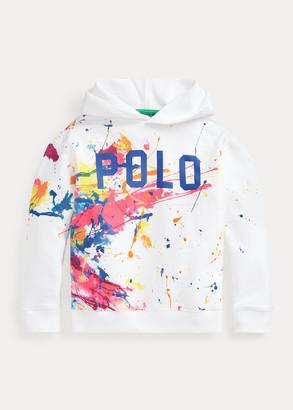 Ralph Lauren Paint-Splatter Fleece Hoodie