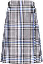Christopher Kane Cotton pleated check skirt