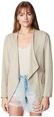 Blank NYC Faux Suede Draw String Jacket (Off the Grid) Women's Clothing