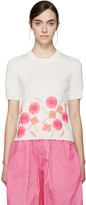 Comme des Garcons Ivory Embroidered Sweater
