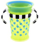 Sassy Grow up Cup No Spill, No Spout Design 7oz - 9 Months, Green by