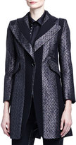 Chloé Paneled Zigzag Brocade Long Jacket