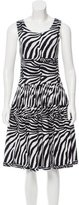 Issa Zebra-Patterned Jacquard Dress