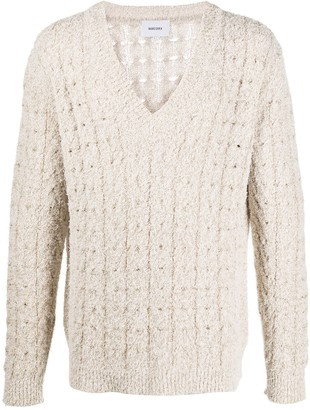 Nanushka Textured Cable-Knit Sweater