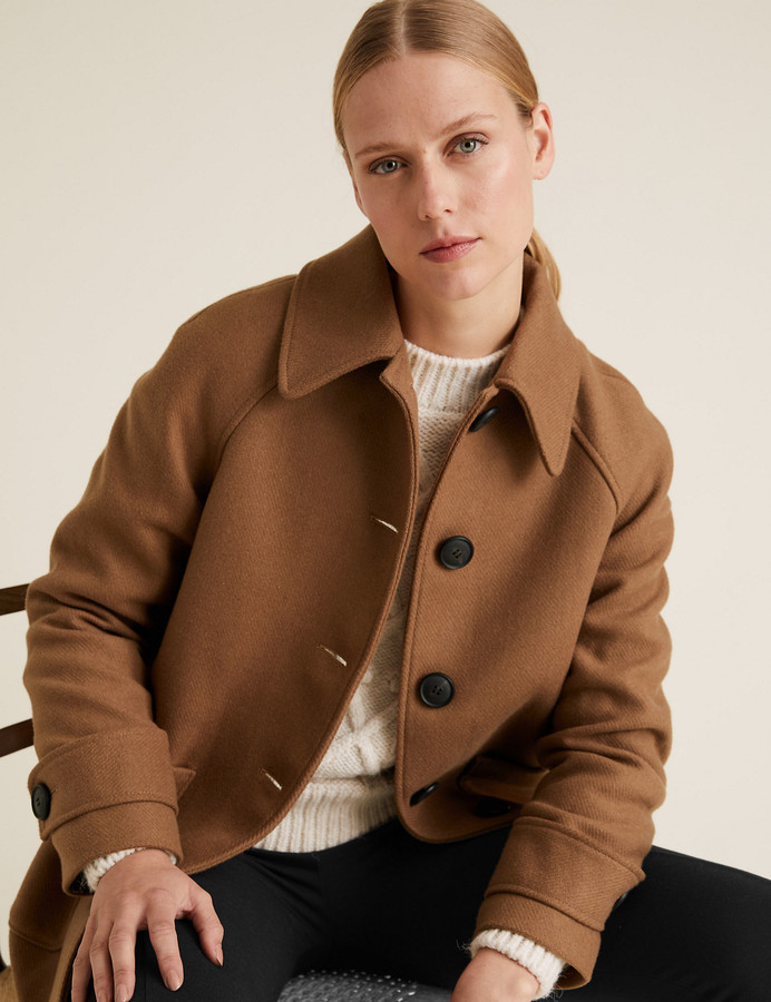 Marks and Spencer Car Coat with Wool