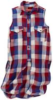 BLANKNYC Denim Long Plaid Shirt (Big Girls)