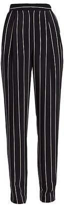 St. John Pleat Front Striped Pull-On Pants
