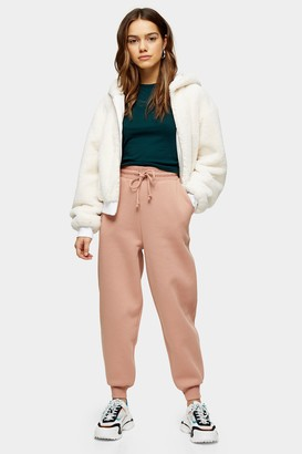 Topshop Womens Petite Pink Oversized Joggers - Pink