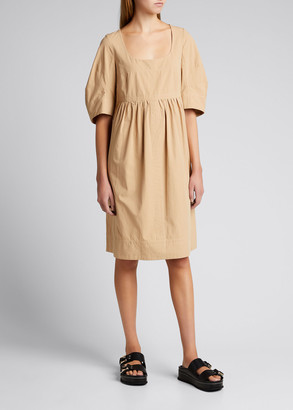 Lee Mathews May Cocoon-Sleeve Mini Dress