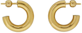 Burberry Gold Small Heritage Hoops
