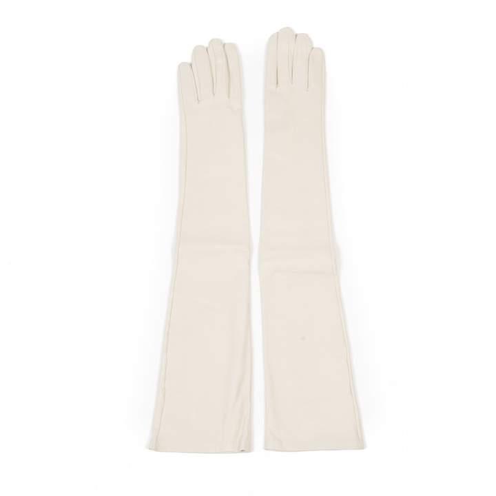 Maison Margiela White Leather Gloves