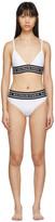 Balmain White Logo Elastic Bikini