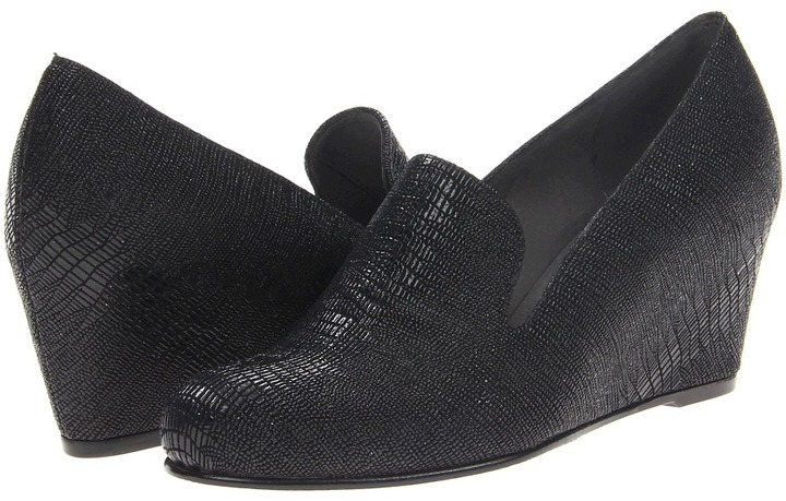 Stuart Weitzman Arise (Nero Lizette) - Footwear