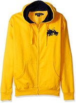U.S. Polo Assn. Men's Long Sleeve Zip Front Hoody with Team Logo