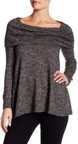 Max Studio Cowl Neck Marled Knit Sweater