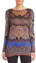 Etro Printed Gauze Jersey Pullover