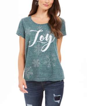 Style&Co. Style & Co Petite Joy Graphic-Print T-Shirt, Created For Macy's