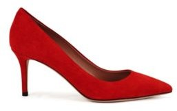 HUGO BOSS Suede court shoes with 70mm heel