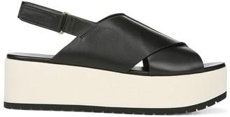 Vince Jenaya Leather Platform Slingback Sandals