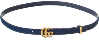 Gucci Torchon Double G Buckle Suede Belt