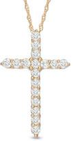 Zales 1/2 CT. T.W. Diamond Cross Pendant in 14K Gold