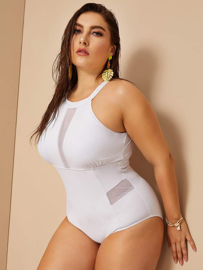 15556abea5f White Mesh One Piece - ShopStyle